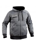 SWEAT ZIP GHOST GRIS/NOIR