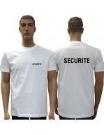 T-Shirt SECURITE - Blanc -...