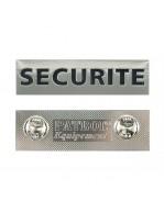 PLAQUE METAL SECURITE